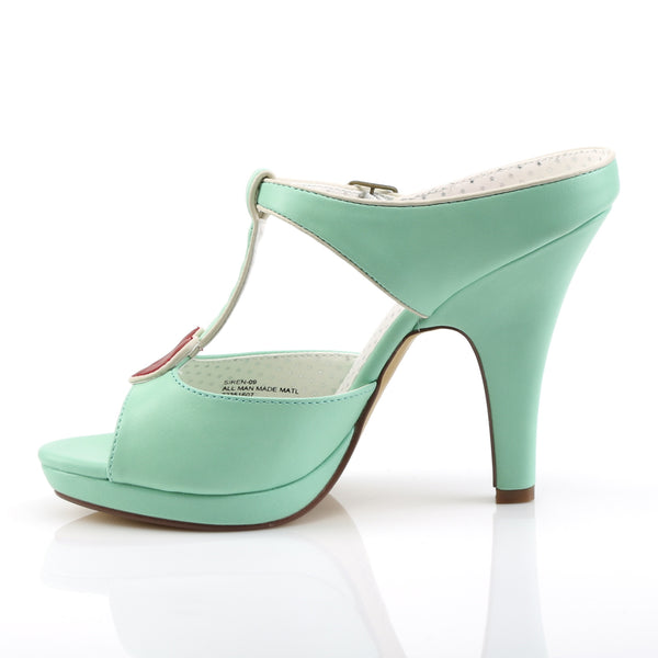 Pin Up Couture - SIREN-09 - Mint Faux Leather - Platforms