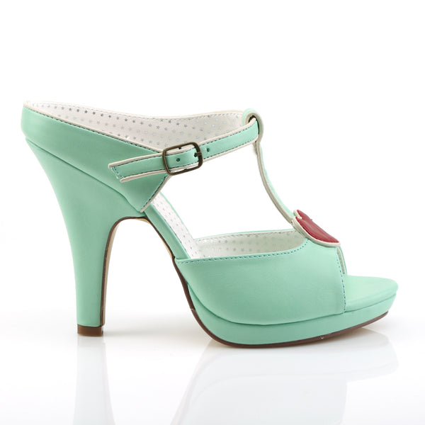 Pin Up Couture - SIREN-09 - Mint Faux Leather