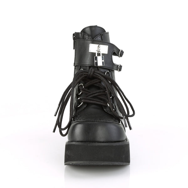 Demonia - SPRITE-70 - Black Vegan Leather - Women's Ankle Boots