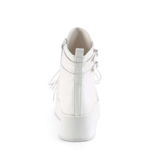 Demonia - SPRITE-70 - White Vegan Leather - Women's Ankle Boots