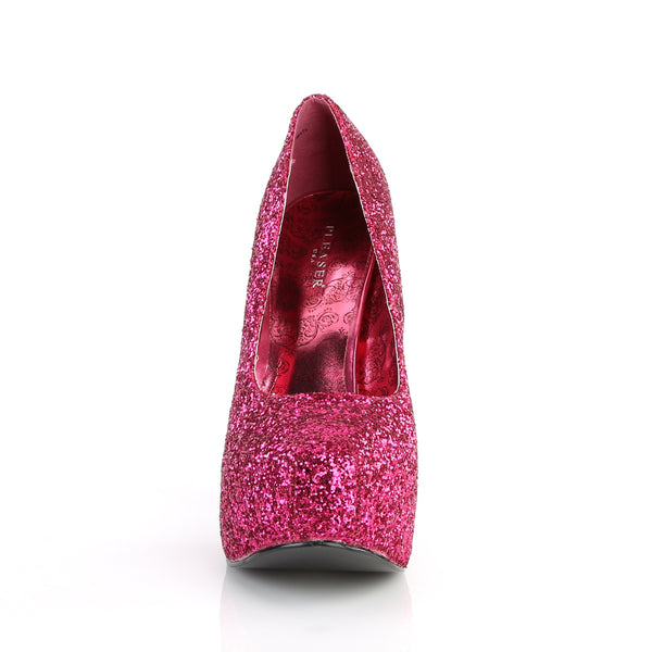 Pleaser Pink Label - TEEZE-06GW - Hot Pink Glitter