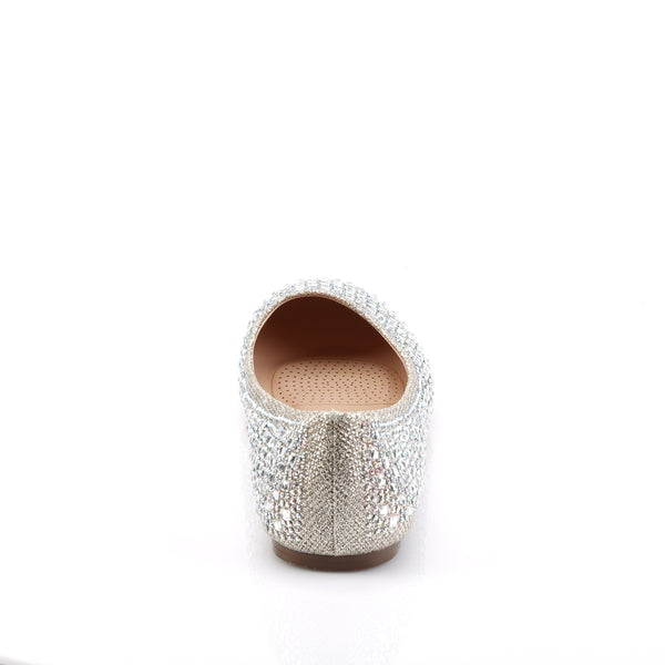Fabulicious - TREAT-06 - Nude Glitter Mesh Fabric - Shoes