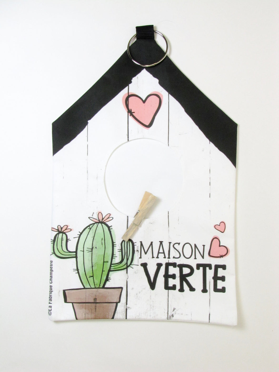 Sac à épingle - Maison verte