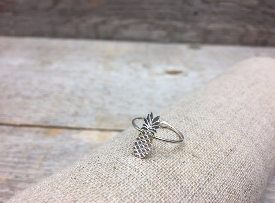 Bague ananas, argent