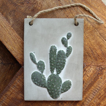 Plaque cactus - Petit rectangle