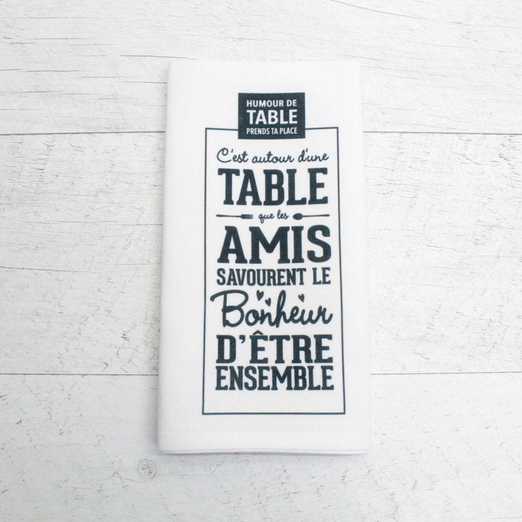 fait-au-quebec,fait-a-la-main,polyester,citation,citations,serviette-a-main,serviette-de-table,amusant,drole,humour-de-table,casa-luca,boutique-casa-luca,ahuntsic,montreal