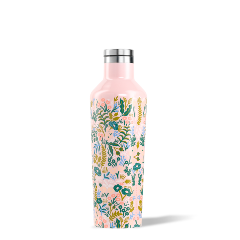 bouteille,isolante,isotherme,thermos,corkcicle,rose,acier inoxydable,16oz,gourde,luxe,meilleur,etudiant,montreal,boutique-casa-luca,performance,bouteille-corckcicle-rose-monteal,rifle-paper-co,tapestry