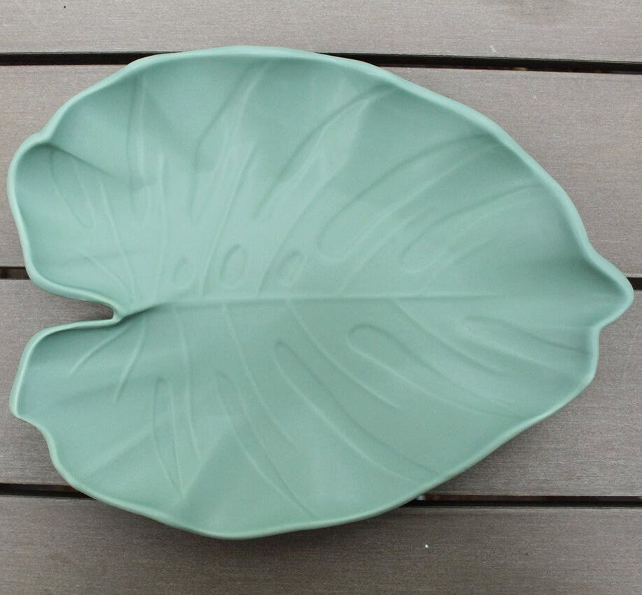 Plateau feuille - turquoise