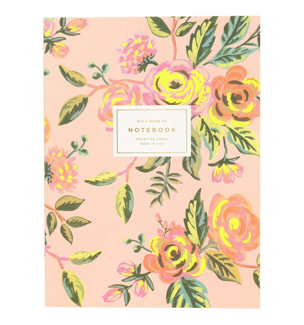 Cahier - Floral rose