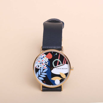 Montre Chikiboom - Abstract - bracelet marine
