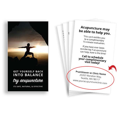 Call-to-Action Cards for Acupuncturists -  Balance