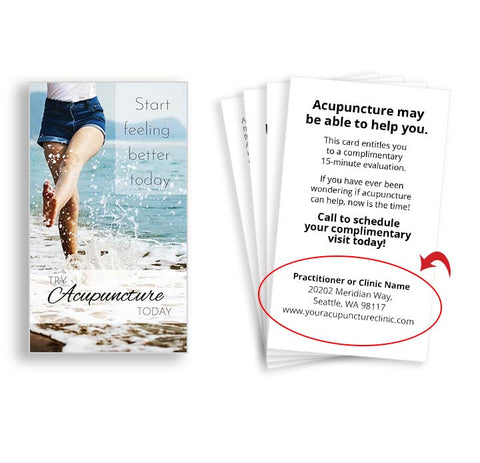 Call-to-action Cards for Acupuncturists - Beach