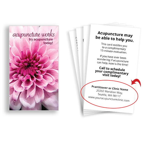 Call-to-Action Cards for Acupuncturists - Chrysanthemum