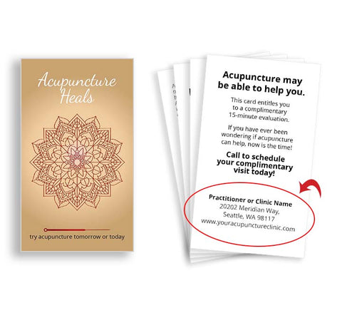 Call-to-Action Cards for Acupuncturists - Healing