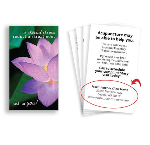 Call-to-Action Cards for Acupuncturists - Lotus