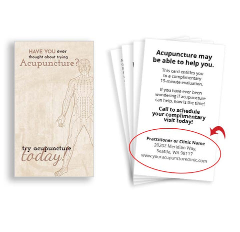 Call-to-Action Cards for Acupuncturists - Meridian Man