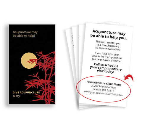 Call-to-Action Cards for Acupuncturists - Night Moon