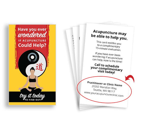 Call-to-Action Cards for Acupuncturists - Sitting Yin Yang