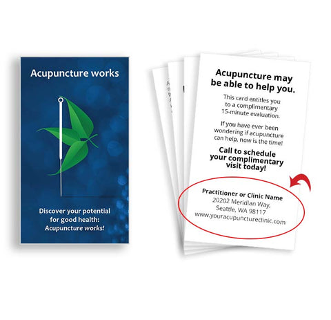 Call-to-Action Cards for Acupuncturists - Stone Flower