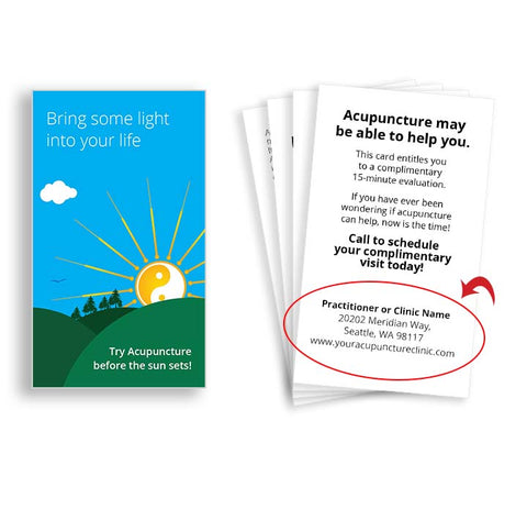 Call-to-Action Cards for Acupuncturists - Sunrise