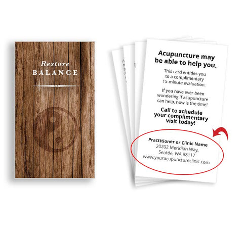 Call-to-Action Cards for Acupuncturists - Wood Yin Yang