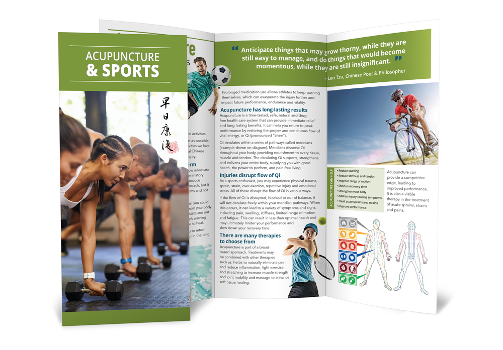 Acupuncture and Sports - Acupuncture Brochures