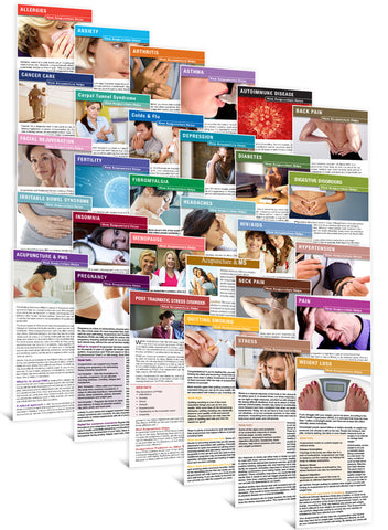 Set of All Acupuncture Education Cards (30 Titles)