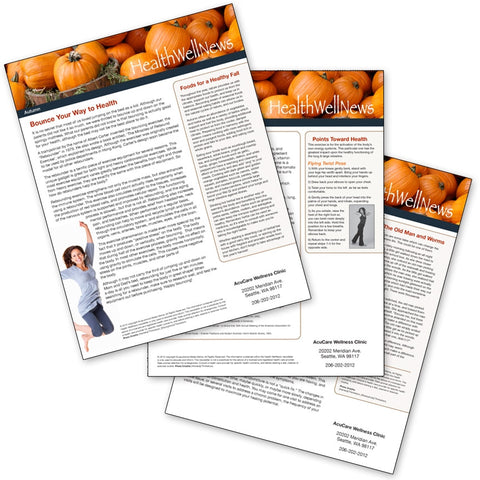 PERSONALIZED Health Well News - Autumn #6 - Download & Print