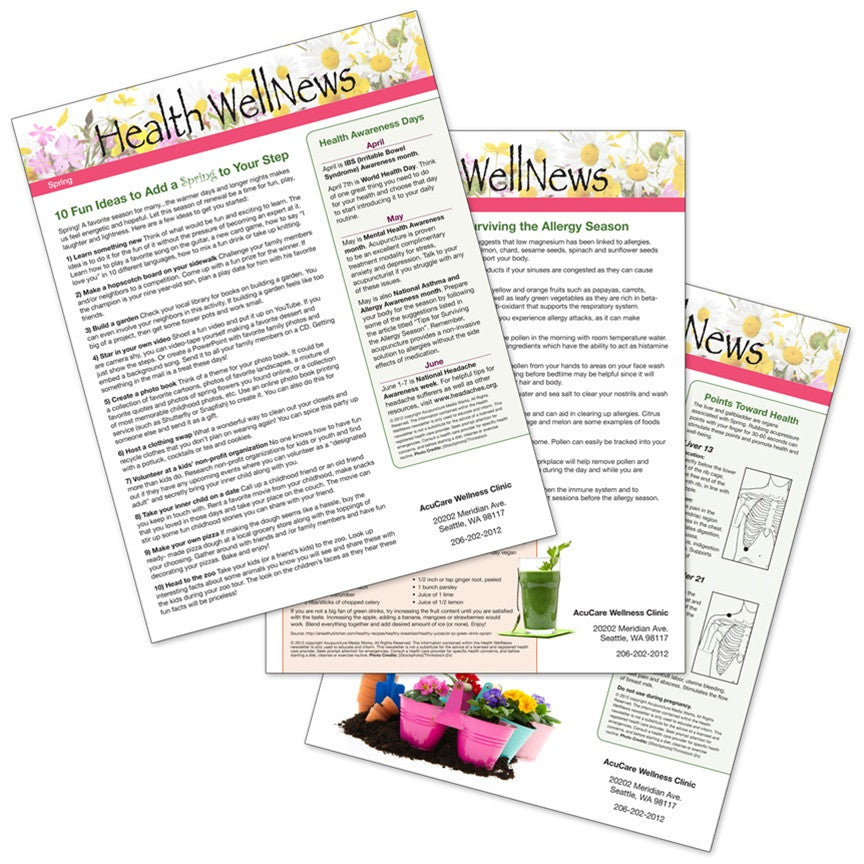 PERSONALIZED Health Well News - Spring #6 - Download & Print