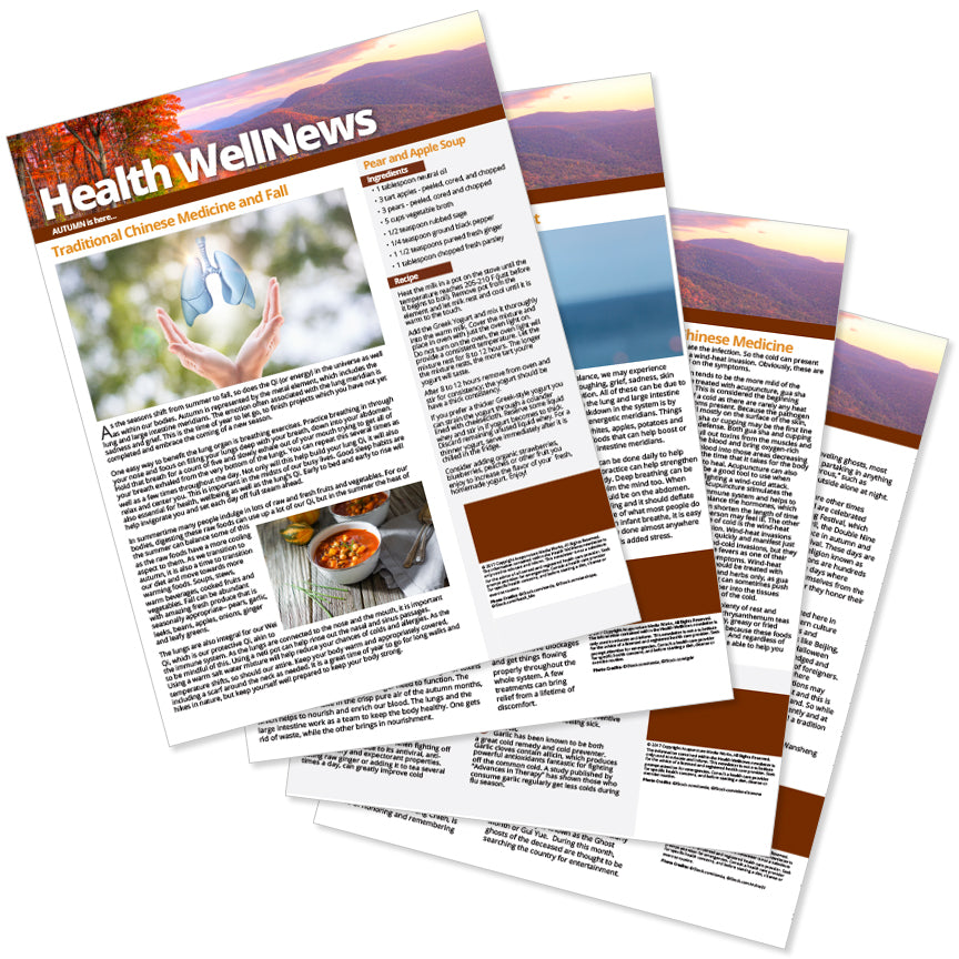 PERSONALIZED Health Well News - Autumn #10 - Download & Print