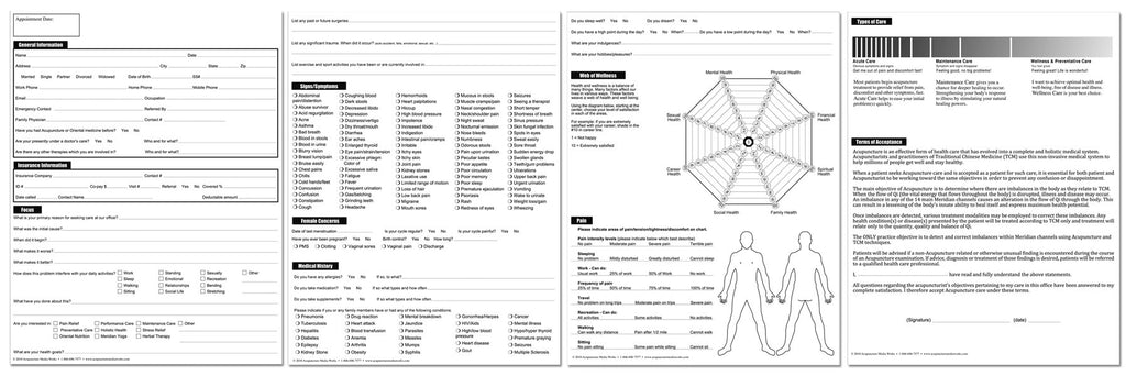 New Patient Health History form – Acupuncture Media Works