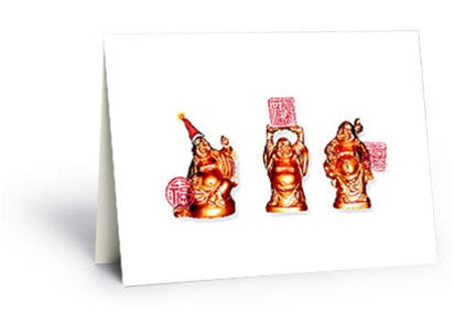 Holiday Buddha Postcard