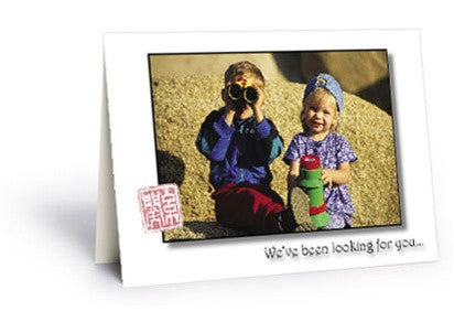 We've Been Looking for You Postcard