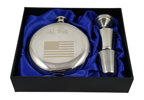USA Flask Gift Set