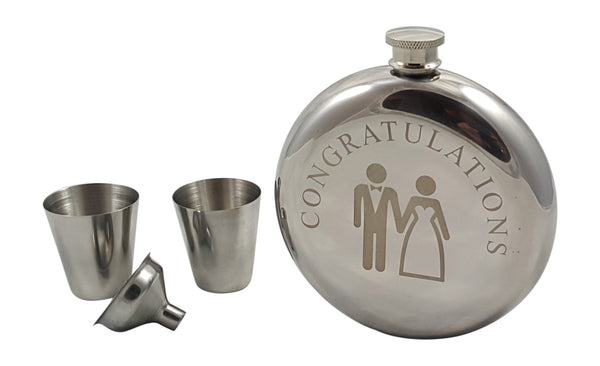 Bride and Groom Flask Gift Set