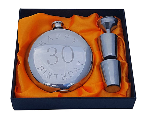 Happy 30th Birthday Flask Gift Set