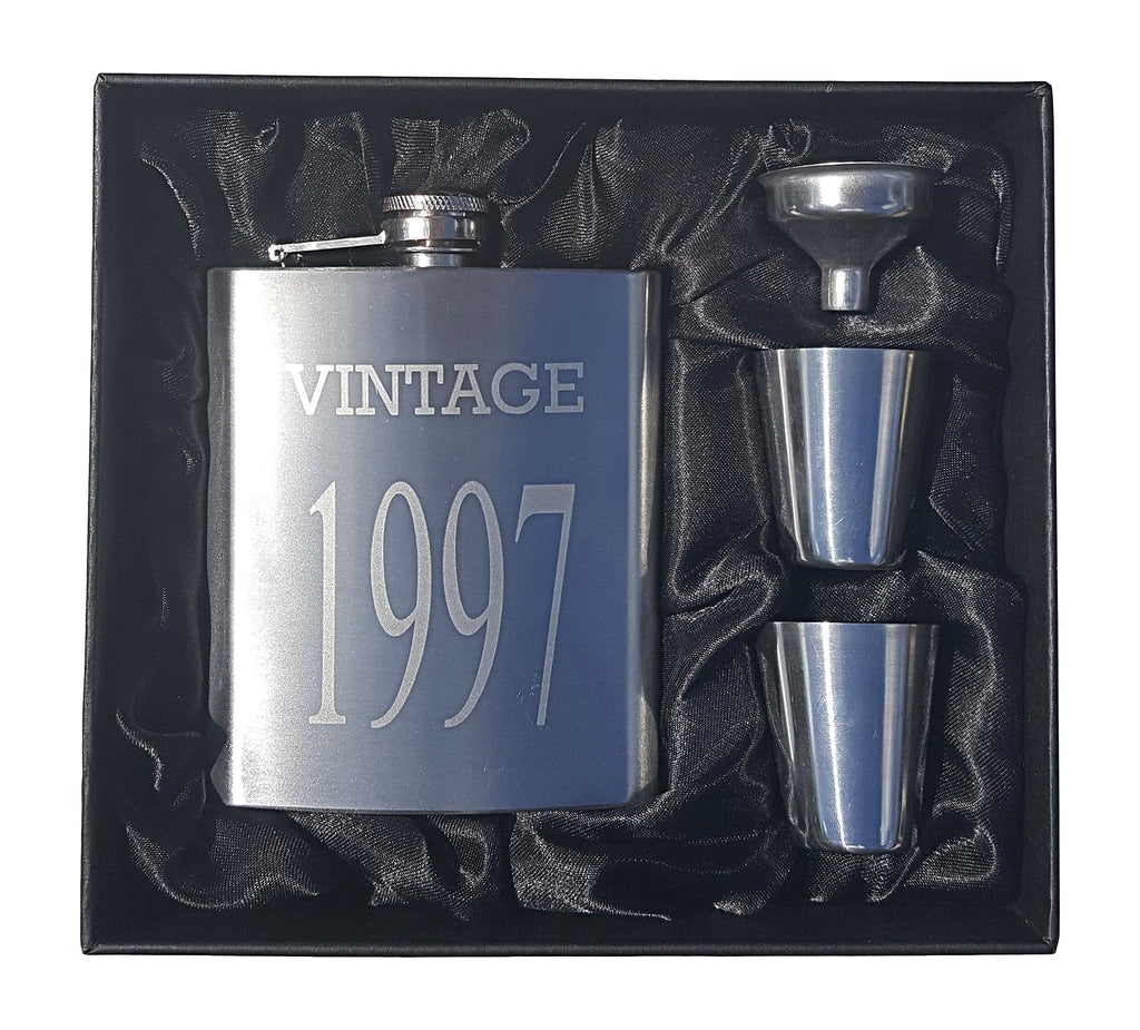 Vintage 1997 Flask Gift Set - Perfect 21st Birthday Present