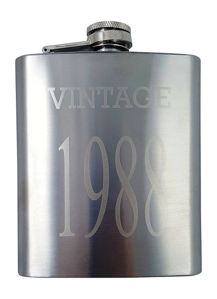 Vintage 1988 Flask Gift Set - Perfect 30th Birthday Present