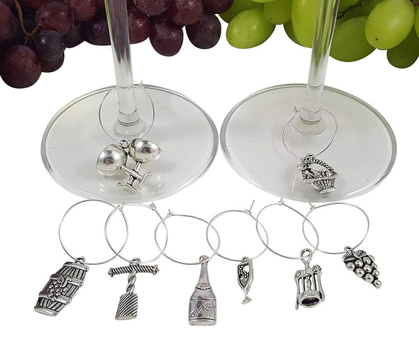 Bundle of 3 Wine Lovers Themed Wine Charm Sets