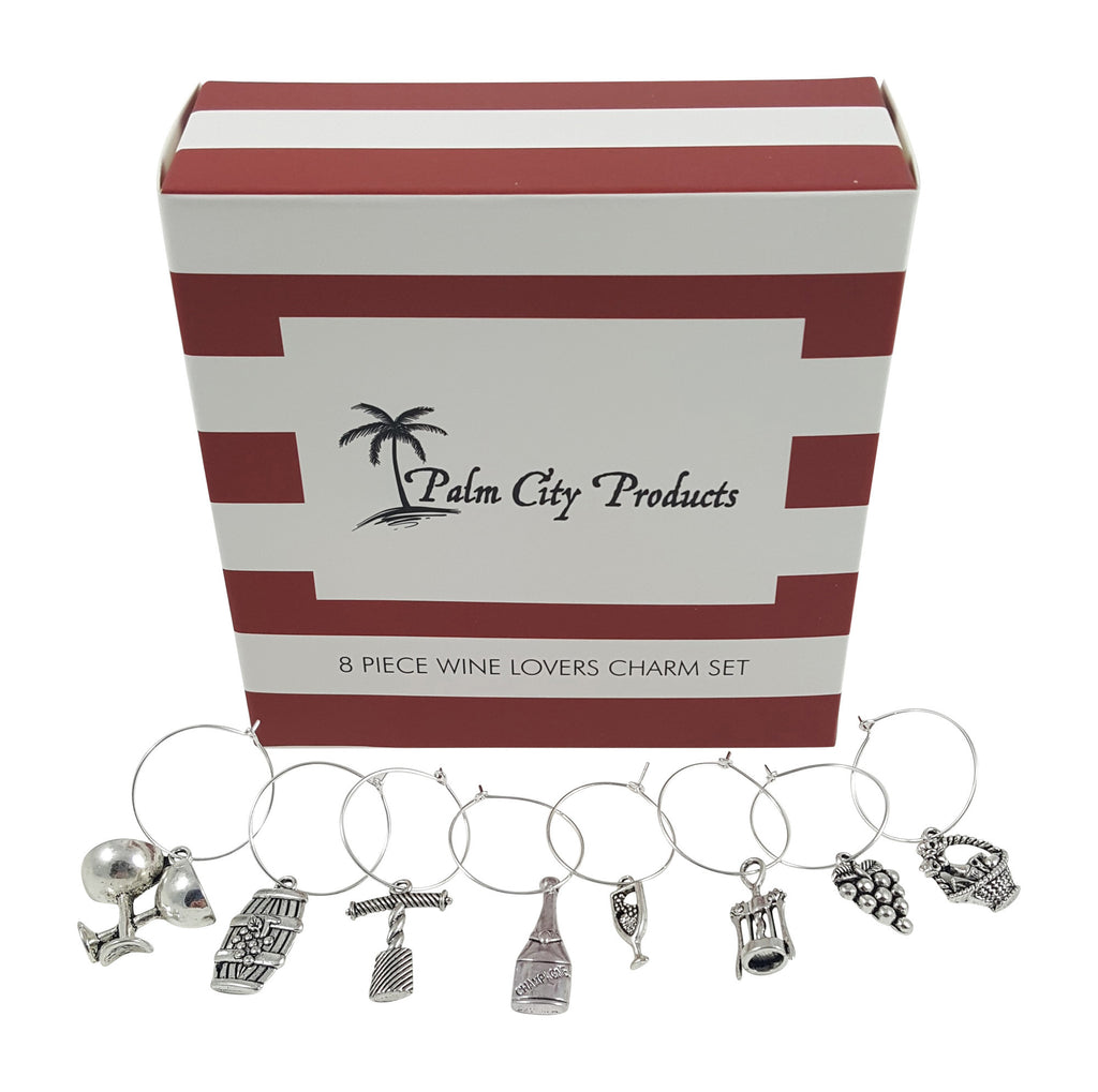 8 Piece Wine Lovers Themed Charms Set