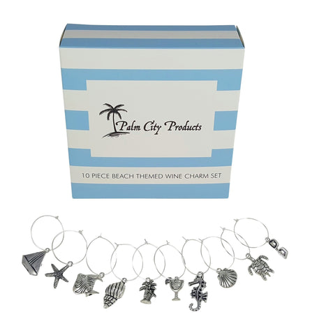 10 Piece Beach Themed Charm Set