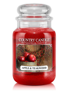 Apple & Teakwood Large Jar Candle