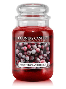 Frosted Cranberries Large Jar Candle