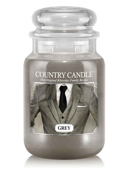Grey Large Jar Candle