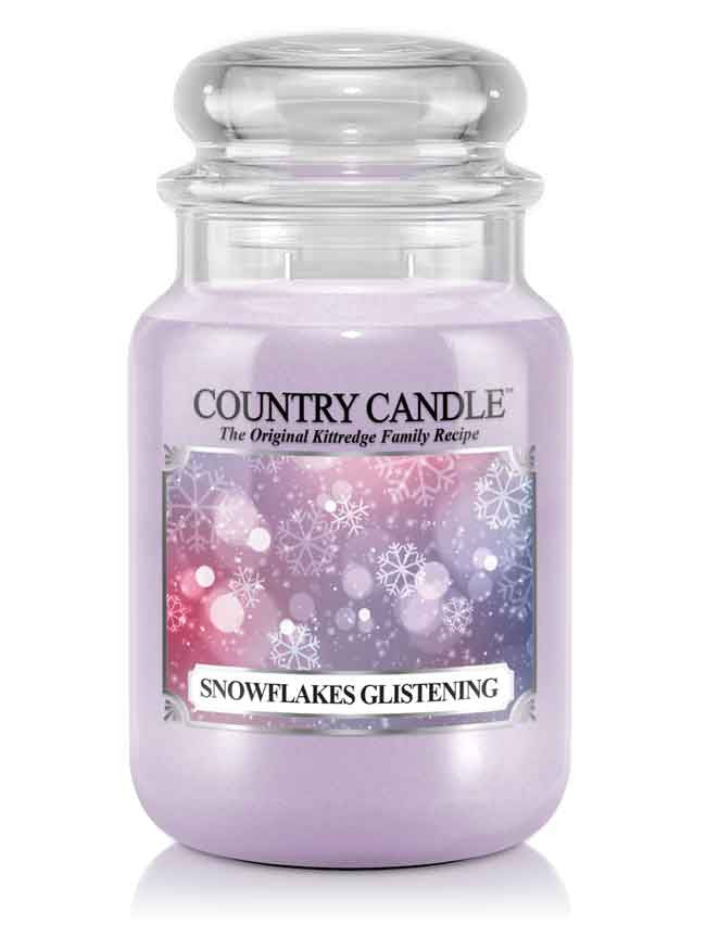 Snowflakes Glistening Large Jar Candle