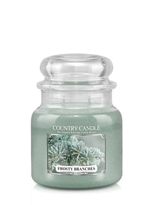 Forsty Branches Medium Jar Candle