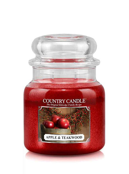 Apple & Teakwood Medium Jar Candle