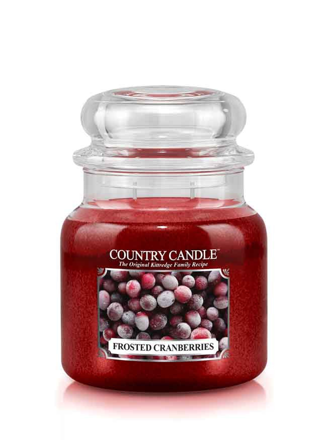 Frosted Cranberries Medium Jar Candle
