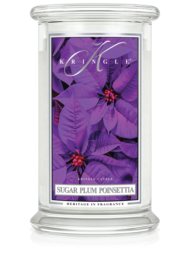 Sugar Plum Poinsettia Large Classic Jar