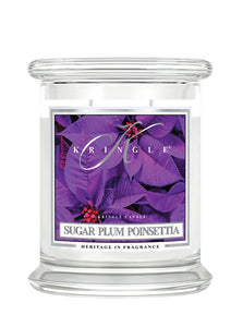 Sugar Plum Poinsettia Medium Classic Jar
